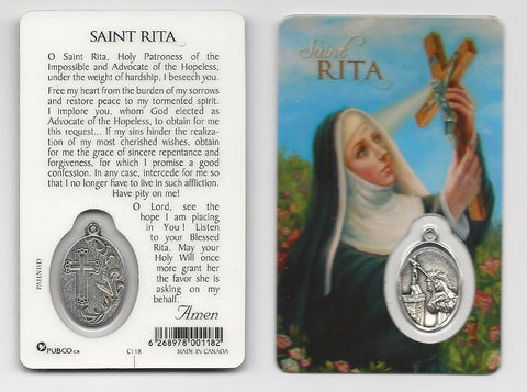 St. Rita Prayer Card