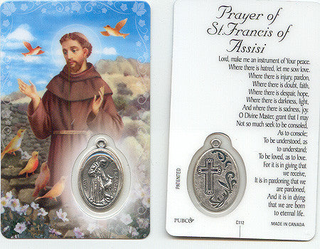 St. Francis Prayer Card