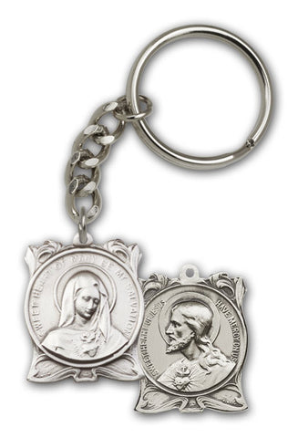 Key Chain - Sacred Heart of Jesus / Immaculate Heart of Mary