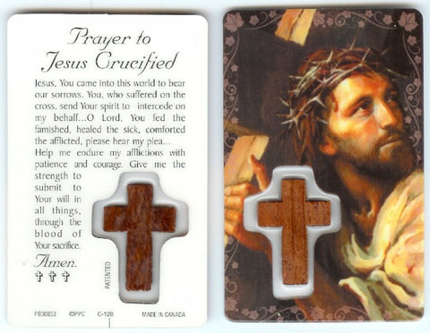 Prayer to Jesus Crucified Prayer Card