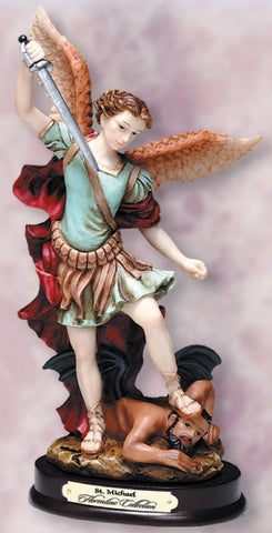 St. Michael Resin Statue