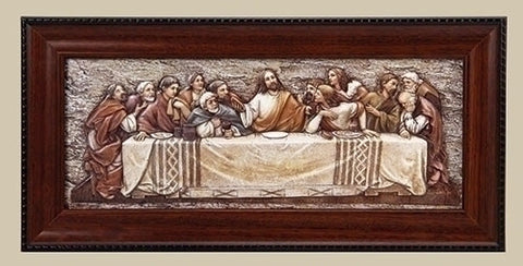 Last Supper Relief (Plaque) with Frame - Discount Catholic Store
