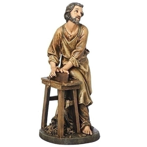 "St. Joseph the Woodworker Statue 18"" - Discount Catholic Store"