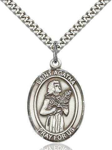 St. Agatha Sterling Silver 1""