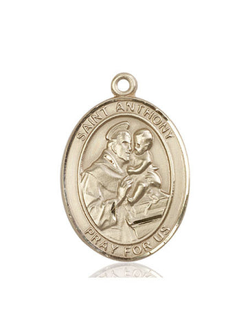 St. Anthony Of Padua 14 Kt Gold 1""