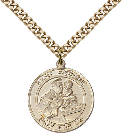 St. Anthony Of Padua Gold Filled 1""