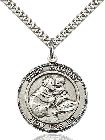 St. Anthony Of Padua Sterling Silver 1""