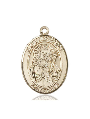 St. Apollonia 14 Kt Gold 1""