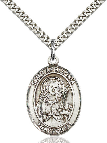 St. Apollonia Sterling Silver 1""