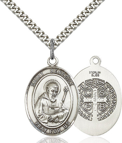 St. Benedict Sterling Silver 1""