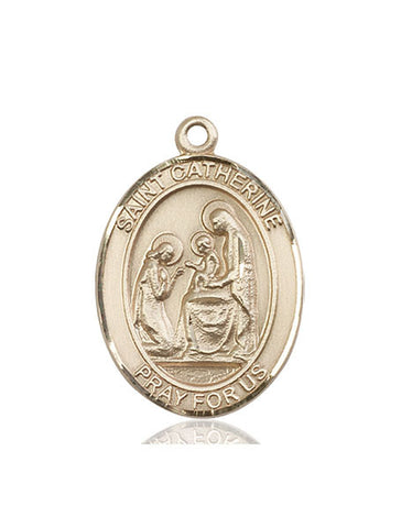 St. Catherine Of Siena 14 Kt Gold 1""