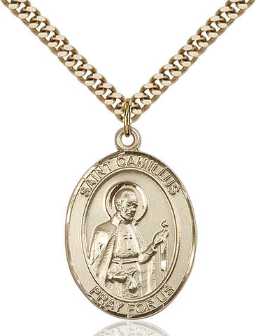 St. Camillus Of Lellis Gold Filled 1""
