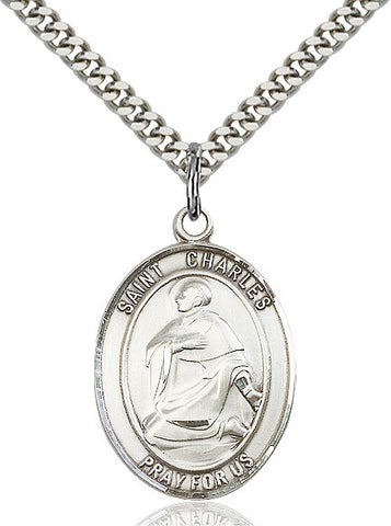 St. Charles Borromeo Sterling Silver 1""