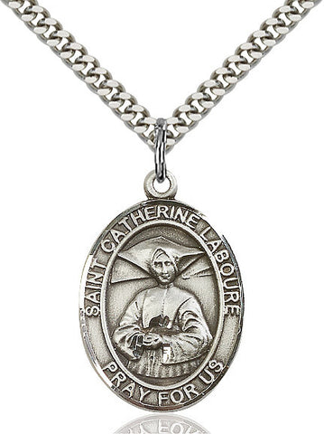 St. Catherine Laboure Sterling Silver 1""