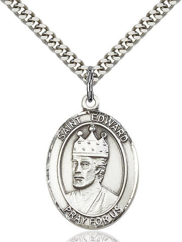 St. Edward The Confessor Sterling Silver 1""