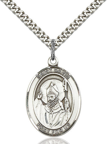St. David Of Wales Sterling Silver 1""