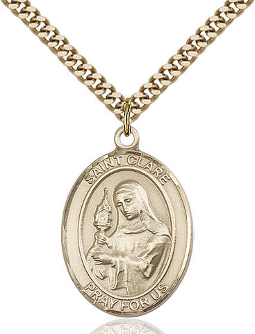 St. Clare Of Assisi Gold Filled 1""