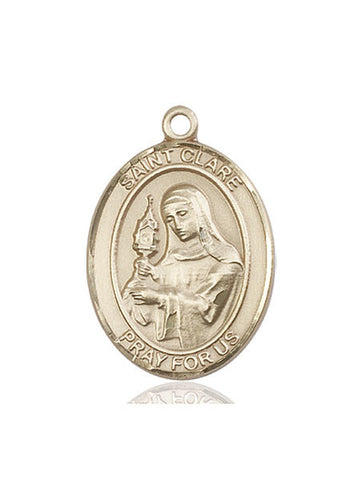 St. Clare Of Assisi 14 Kt Gold 1""