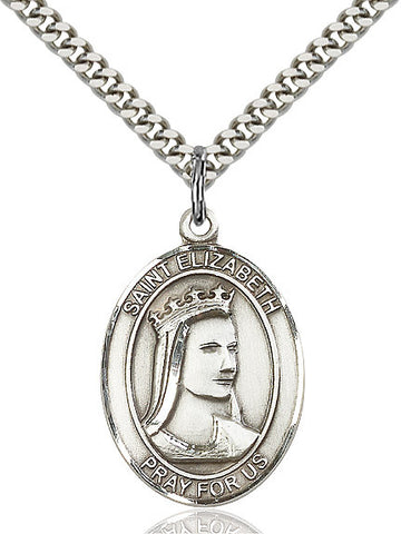 St. Elizabeth Of Hungary Sterling Silver 1""