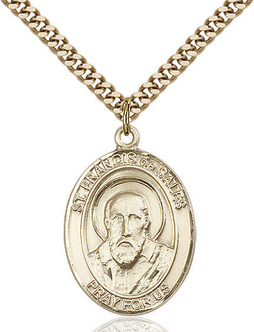 St. Francis De Sales Gold Filled 1""