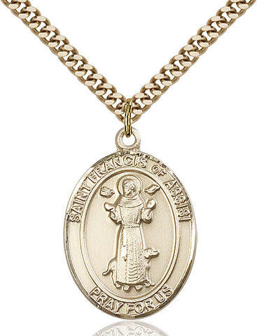 St. Francis of Assisi Medal 14kt Gold Filled 3/4""