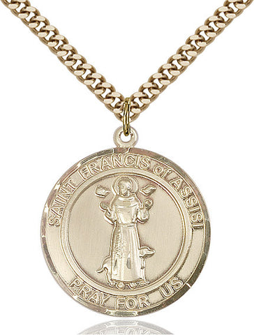 St. Francis of Assisi Medal 14kt Gold Filled 1""