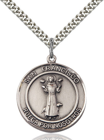 San Francis Of Assisi Sterling Silver 1""