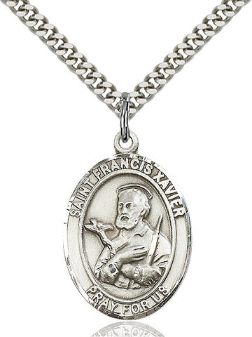 St. Francis Xavier Sterling Silver 1""