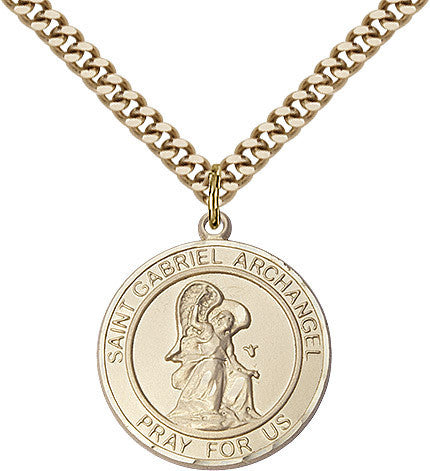 "St. Gabriel The Archangel 14Kt Gold Filled 1"" - Discount Catholic Store"