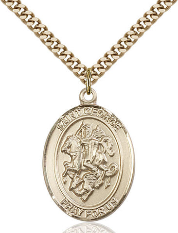 St. George/paratrooper Pendant  14kt Gold Filled 1""