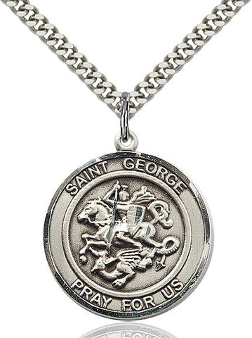 St. George Sterling Silver 1""