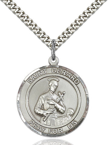 St. Gerard Sterling Silver 1""