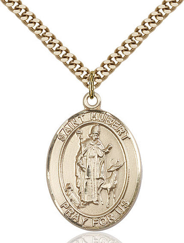 St. Hubert Medal 14kt Gold Filled 3/4""
