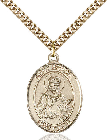 St. Isidore Of Seville Gold Filled 1""