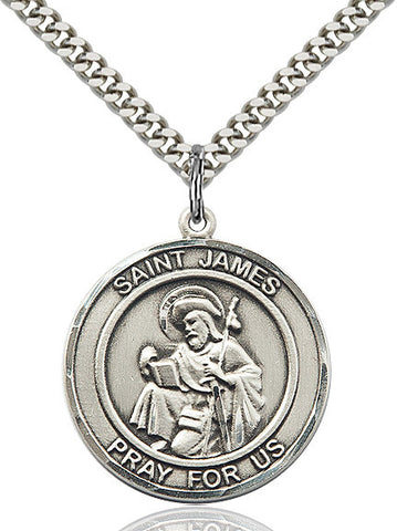 St. James The Greater Sterling Silver 1""
