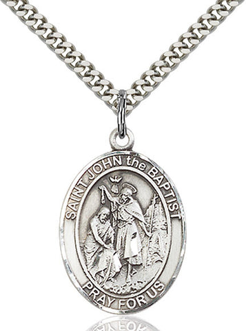 St. John The Baptist Sterling Silver 1""