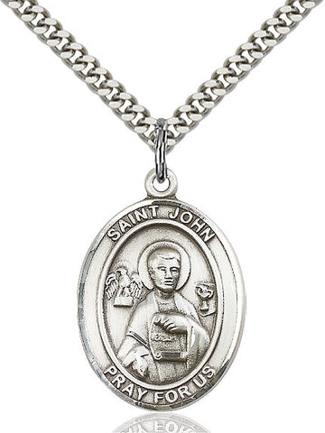 St. John The Apostle Sterling Silver 1""