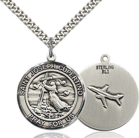 St. Joseph Of Cupertino Sterling Silver 1""