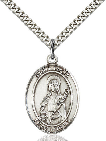 St. Lucia Of Syracuse Sterling Silver 1""