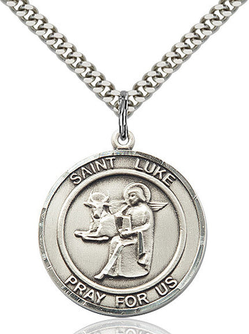 St. Luke The Apostle Sterling Silver 1""