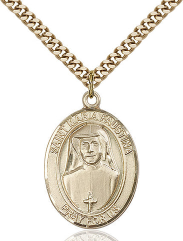 St. Maria Faustina Gold Filled 1""