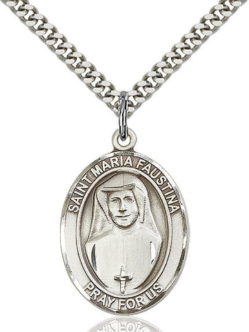 St. Maria Faustina Sterling Silver 1""