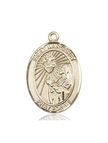 St. Margaret Mary Alacoque 14 Kt Gold 1""