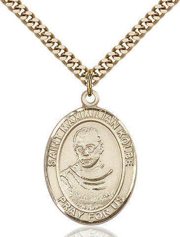 St. Maximilian Kolbe Gold Filled 1""