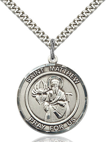 St. Matthew The Apostle Sterling Silver 1""