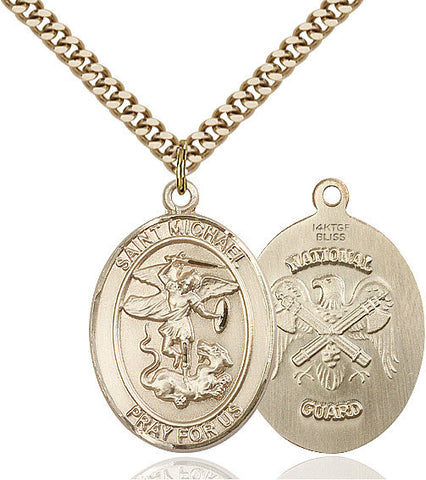 St. Michael / Nat'l Guard Pendant  14kt Gold Filled 1""