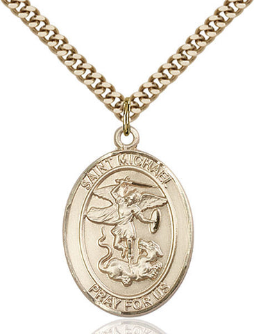 St. Michael / Paratrooper Pendant  14kt Gold Filled 1""