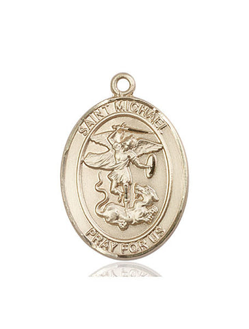 St. Michael The Archangel 14 Kt Gold 1""