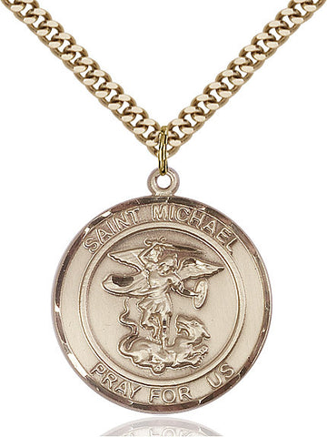 St. Michael The Archangel Gold Filled 1""