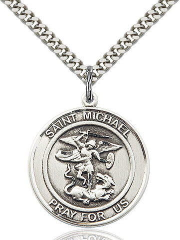 St. Michael The Archangel Sterling Silver 1""